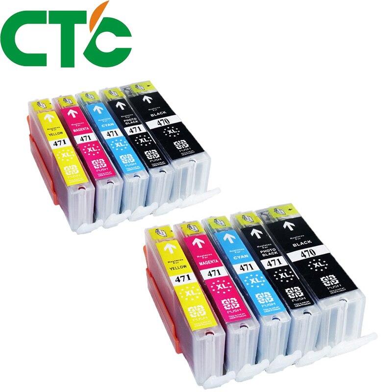 10 Pack PGI 470 CLI471XL Ink Cartridge Compatible for Canon Pixma MG5740 MG6840 MG7740 TS5040 TS6040 TS 5040 TS 6040