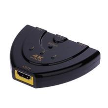 4K*2K 3D Mini 3 Port HDMI Switch 1.4b 4K Switcher HDMI Splitter 3 in 1 out Portable Audio & Video