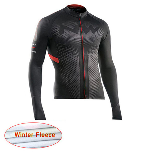 Cheap Cycling Jersey 2018 NW Pro Men Winter Thermal Fleece bike clothes  Long Sleeve cycle clothing 41357f711