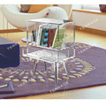 Clear Acrylic book case,lucite beside drawer table