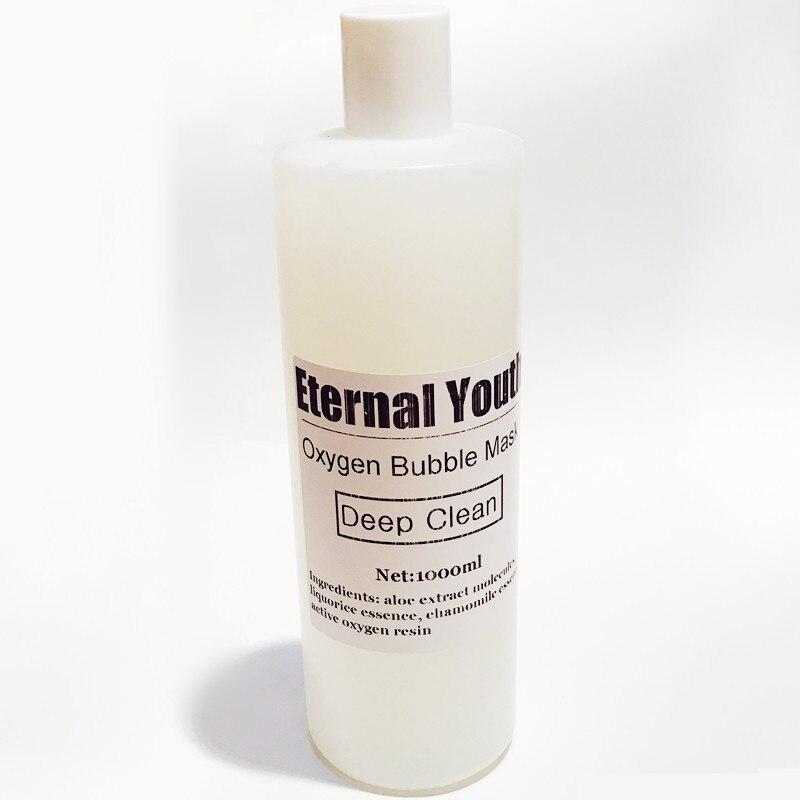 Masque à bulles d'oxygène nettoyage en profondeur Pores hydratant blanchissant traitement de mousse 1000g 1 KG produits de SPA de Salon de beauté