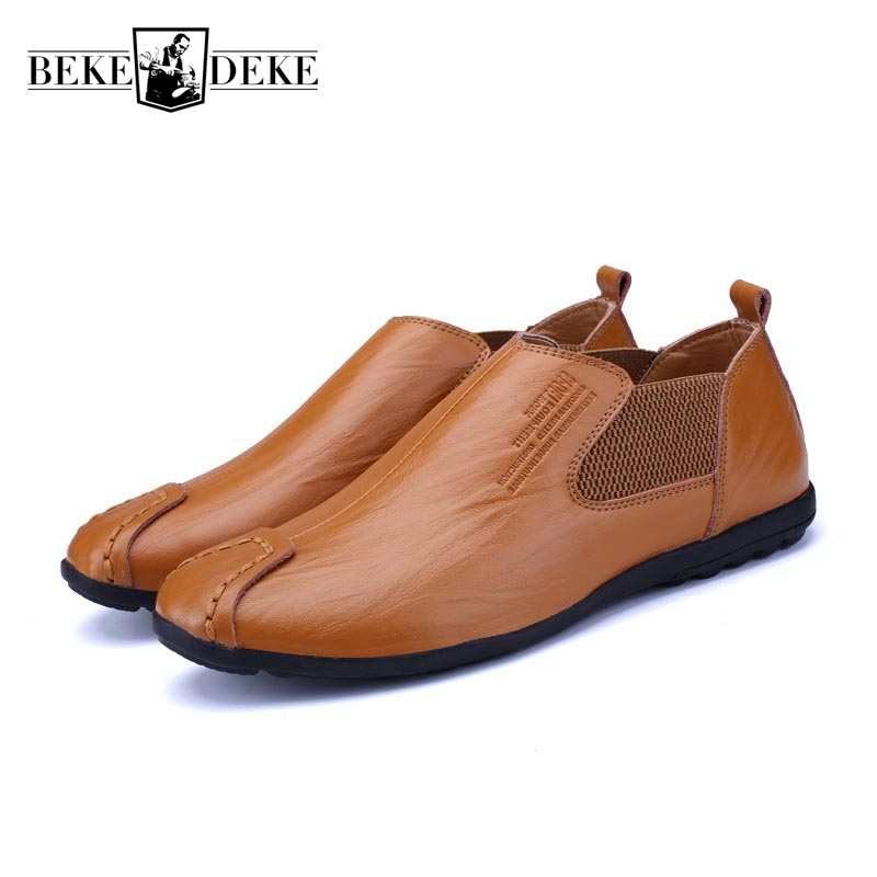 Business Shoes Slip On Mens Loafers Breathable Fashion Male Footwear Casual Shoes Working Shoes Genuine Leather Comfortable Flat vesonal 2017 top quality lycra outdoor ultralight slip on loafers men shoes fashion stripe mens shoes casual sd7005