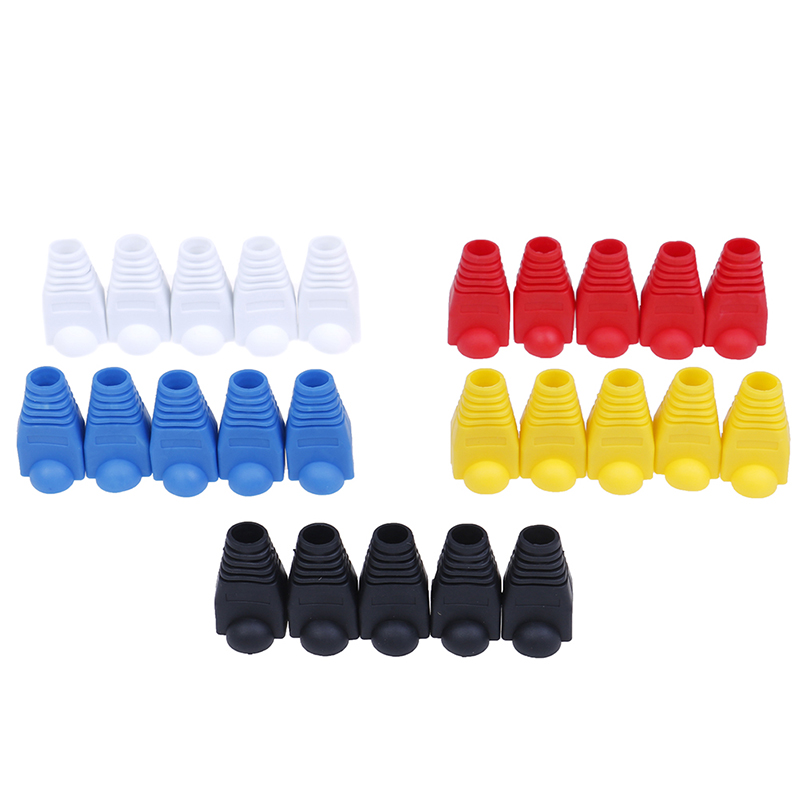 20pcs/lot Rj-45 Adapter Cap Rj45 Cat5 Cat6 Cover Cap Socket Boots Cap Head