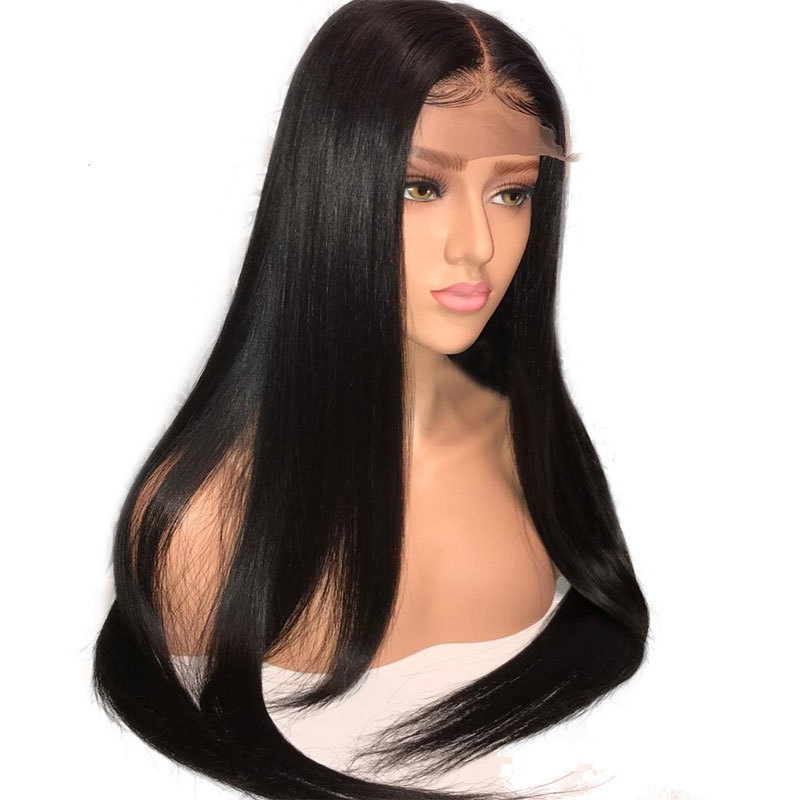 MRSHAIR 13*6 Lace Front Wig Brazilian Human Hair Straight Wigs Remy Lace Wigs For Black Women Natural Color