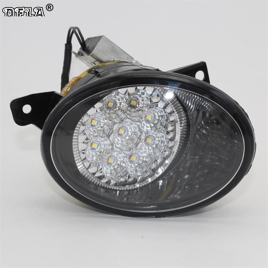 Left Side Car LED Light For VW Transporter Multivan T5 T6 2010 2011 2012 2013 2014 2015 Car-Styling 9 LED Fog Light Fog Lamp 2011 2013 vw golf6 daytime light free ship led vw golf6 fog light 2ps set vw golf 6