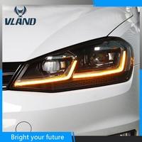 Car Head Lamps for Volkswagen Golf 7 Golf 7.5 Headlights 2013 2017 Angel Eyes Bi Xenon Lens Projector LED DRL Beam Fog lights