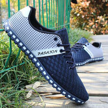 2016 Spring New and Summer Men's Casual Flat Footwear Homme Chaussure Korean Breathable Mesh Men Shoes Zapatos Hombre Plus Size