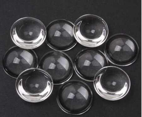 20pcs/lot High Power LED 20mm Convex Lens Optical Acrylic PMMA LED Lens