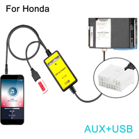 3 5mm AUX USB Cable Adapter Extension Wire Car Stereo Audio Digital CD Changer For Honda