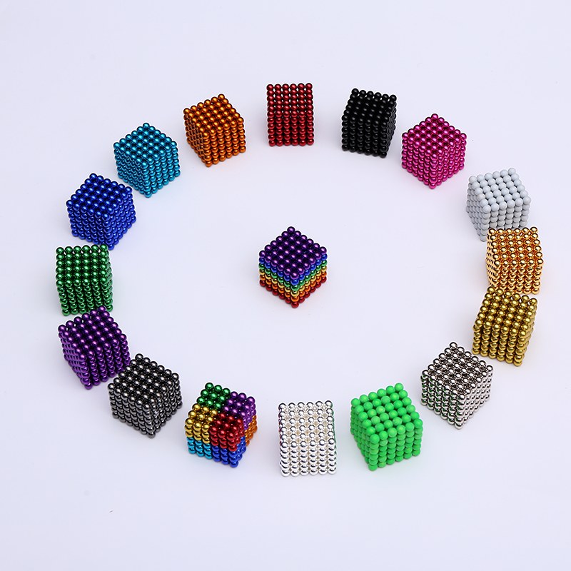 2019 New 5mm Neo Cube 216pcs Metaballs Magnetic Magic Cube Bucky Magcube Blocks Teaching Balls With Metal Box