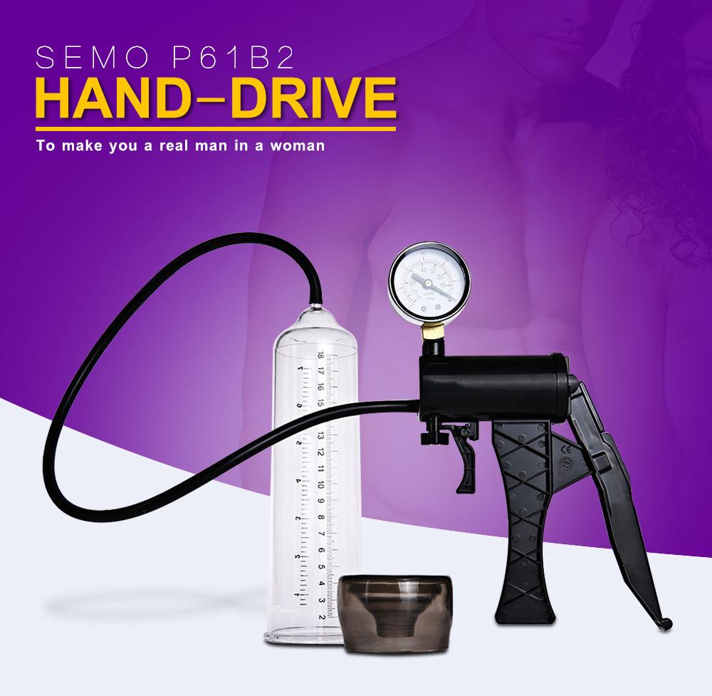 Semo P61B2 Hand-drive Penis Enlarge Pump Manual Operation Vacuum Adult Product for Men Sex Products 2