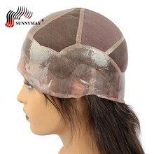 Sunnymay, на заказ, шелковая основа, полностью кружевные человеческие волосы, парики, 130% плотность, ПУ, вокруг, прямые бразильские волосы remy с детскими волосами для женщин