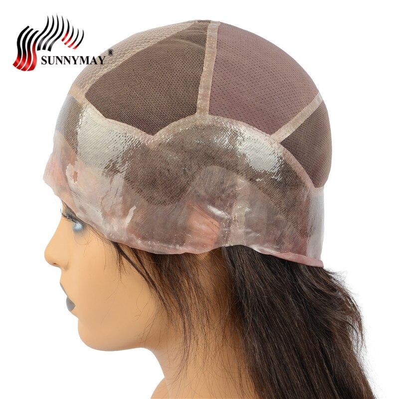 Sunnymay на заказ шелковая база полный кружево натуральные волосы Искусственные парики 130% плотность ПУ вокруг прямо бразильский волосы remy с ре