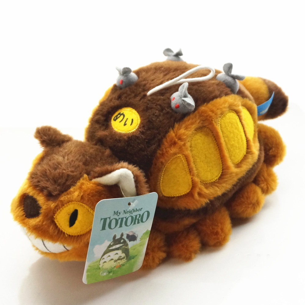 Anime TotoroTotoro Catbus My Neighbor Ghibli Cat Bus Plush Toys Stuffed Dolls Animal Figures Kids Gift