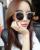 BOUTIQUE de Moda de Nueva Marca Diseñador de Las Mujeres Hueco de la Aleación Marco Media Llanta De Metal Vintage Cat Eye Sunglasses