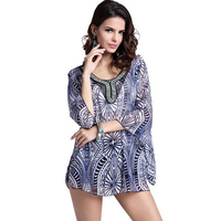 New Arrive Europe And America Style Blouse Beads Embroidery Women Blouse Shirt Fat Increase The Large