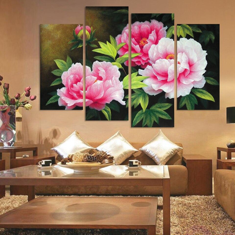 Rosa Blume Leinwand Werbeaktion-Shop für Werbeaktion Rosa Blume ...