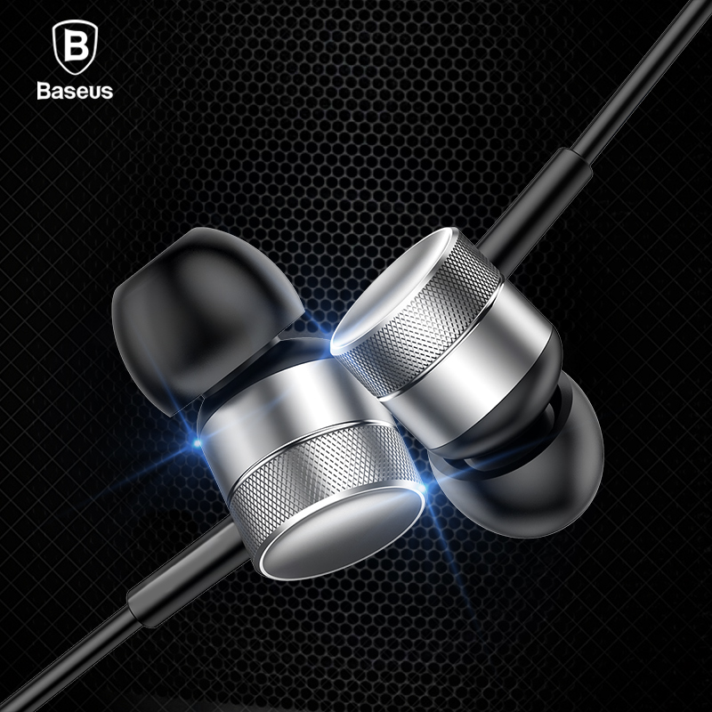 Baseus Universal In-Ear Earphone With Mic Wired Earphone Headphone Stereo Hifi Earbuds Headset For Phone Fone De Ouvido kulakl k each g8200 gaming headphone 7 1 surround usb vibration game headset headband earphone with mic led light for fone pc gamer ps4