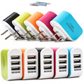 Colorfully 3 USB charger 2A output light 3 USB phone charger USB Andrews Apple charging for iPhone 7 6 6 plus 5 5S 5C 4s samsung