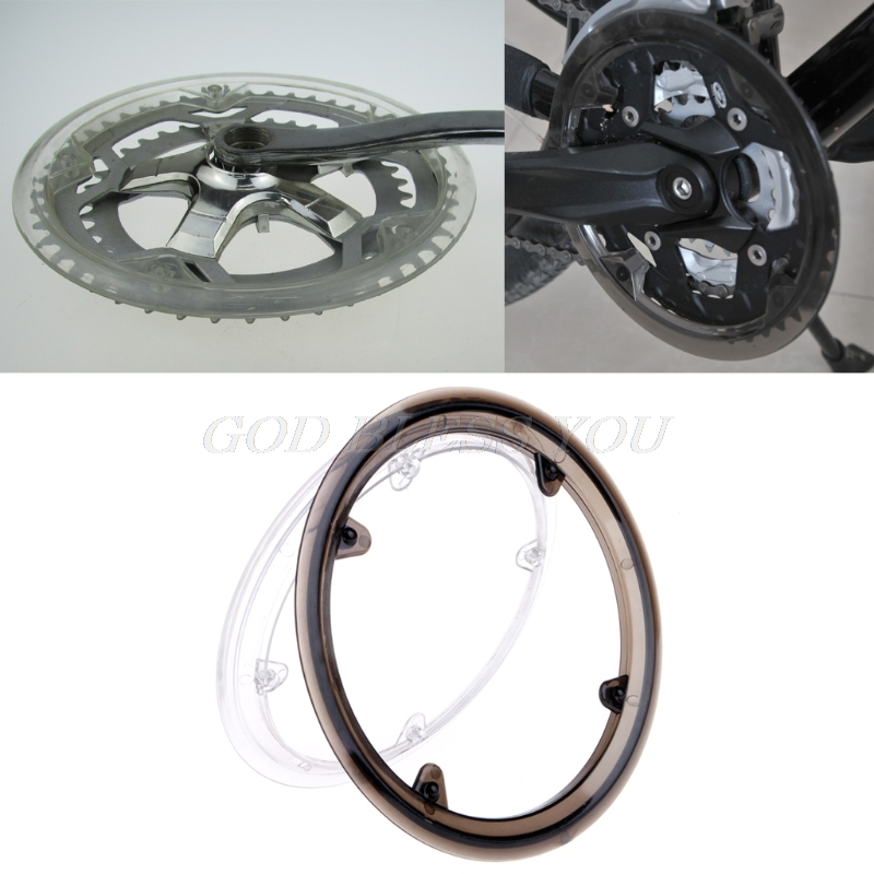 Bike Chain Guard Black Plastic Bicycle Chainring Sprockets Cranksets Guard Protector Mountain Bike Bicycle Chain Wheel Crankset Support Protection Cover Accessories 2pcs