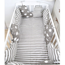 4Pcs/Lot Baby Bed Bumper In The Crib Cot Bumper Baby Bed Protector Crib Bumper Newborns Toddler Bed Bedding Set Room Decoration
