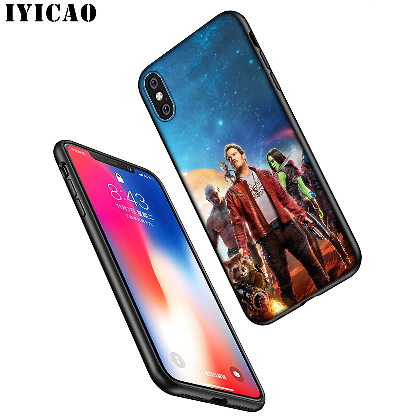 IYICAO Marvel The Avengers Jorker Dead Pool Soft Silicone Phone Case for iPhone XR X XS 11 Pro Max 6 6S 7 8 Plus 5 5S SE Black in Fitted Cases from Cellphones Telecommunications