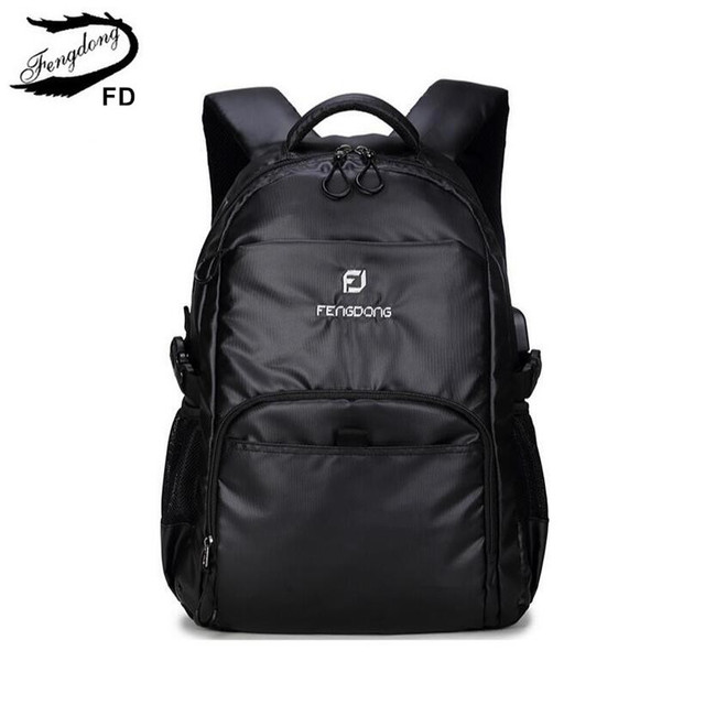 FengDong orthopedic backpacks for children school bags black ...