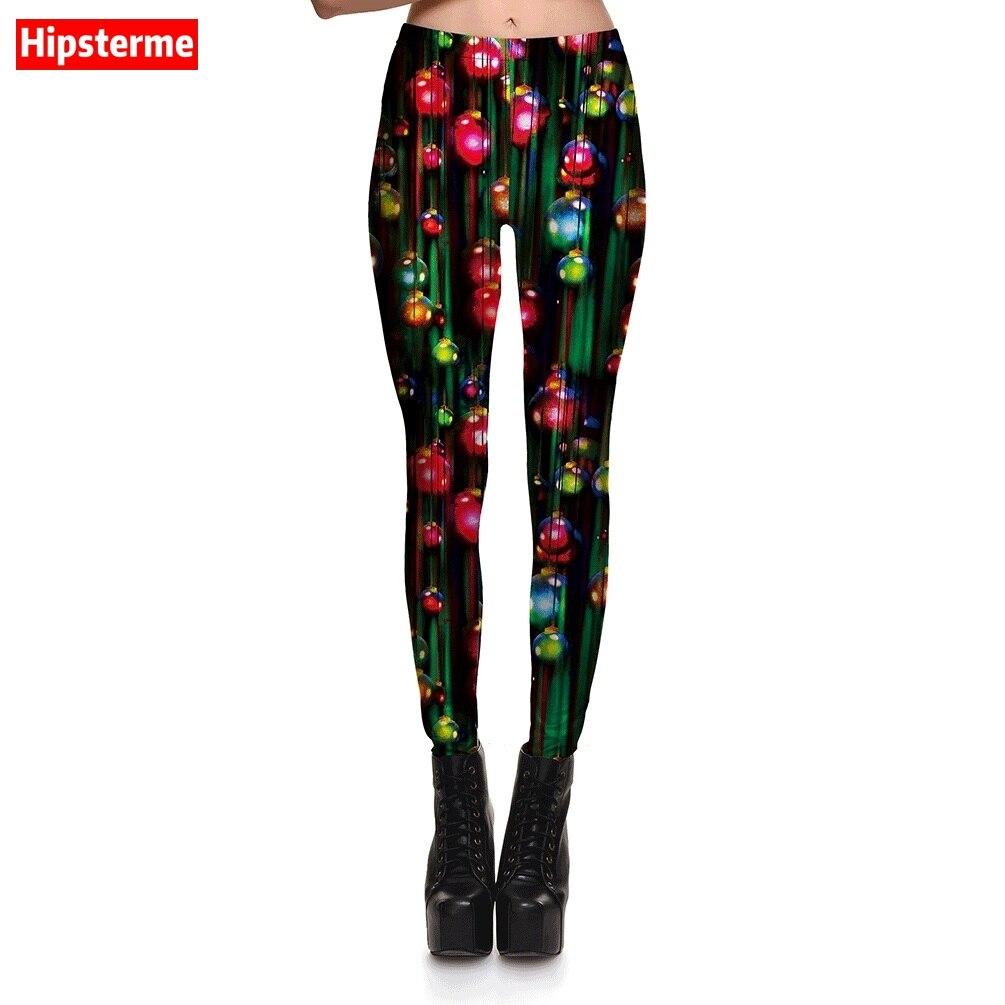 Hipsterme Nouveau Femmes Sexy Pantalon Joyeux Noël leggings Gradient  Lanternes Couleur Fantaisie Imprimé gothique leggins Plus La taille f423dad8bb33