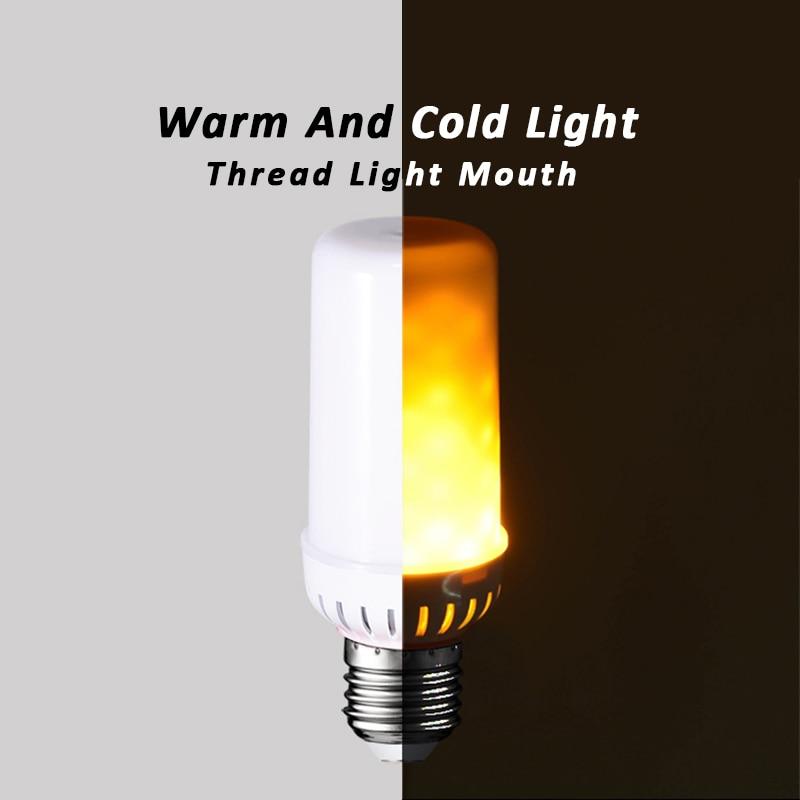 Dynamic Flame Flicker LED Light Bulb Emulation Fire Burning Flame Lamp Holiday Chirstmas Decoration Night light E27 220V RI-009