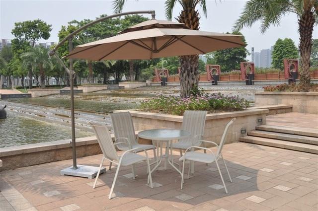 Banana Umbrella Rome Outdoor Shade Canopy Beach Villa Balcony Patio Garden  Double Parasol