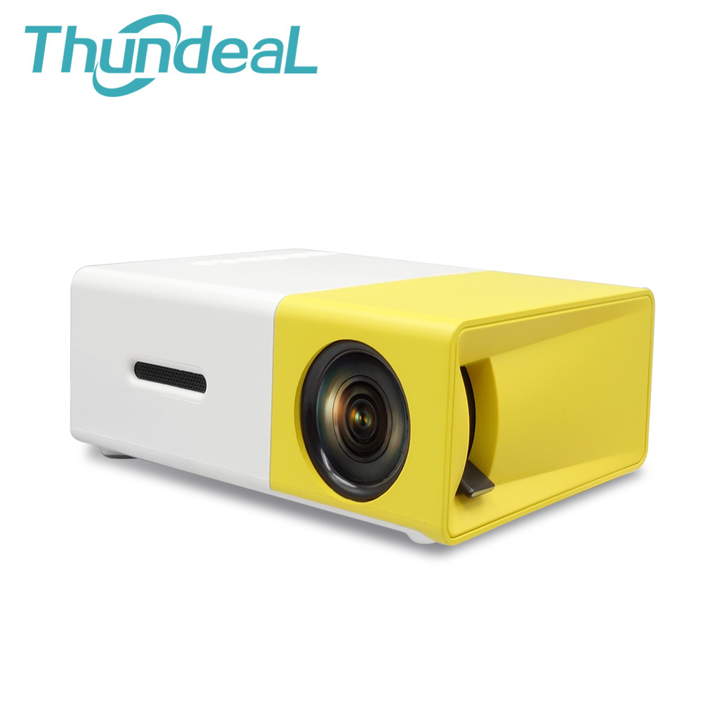 Thundeal YG300 YG 300 Newest Mini Portable Pico LED Projector SD HDMI AV SD USB Projectors