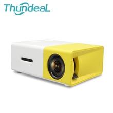 Thundeal YG300 YG-300 новые мини Портативный Пико светодиодный проектор SD HDMI AV SD USB проекторы для домашнего кинотеатра Бимер встроенный Батарея
