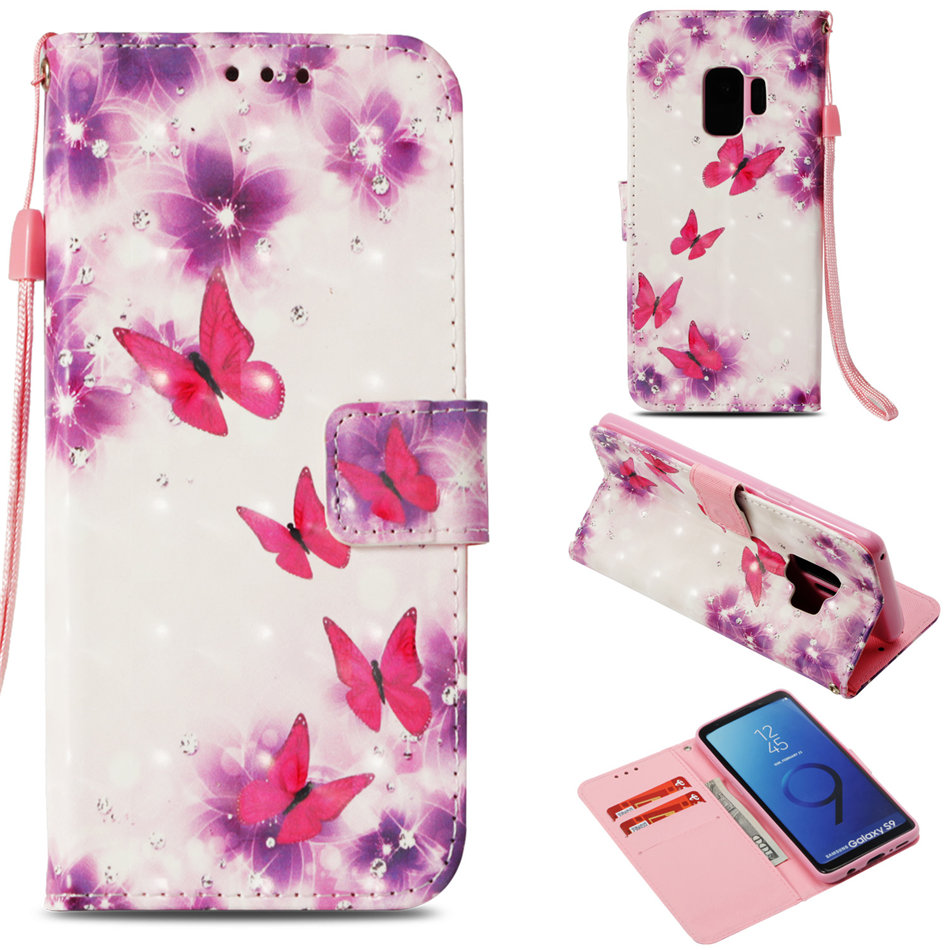 Painted Case For Samsung Galaxy S10E S10 S9 S8 Plus S7 j3 j5 j7 A5 2017 Note 9 A530 Cute Cover Luxury Lace Men Girl Coque DP03E in Flip Cases from Cellphones Telecommunications