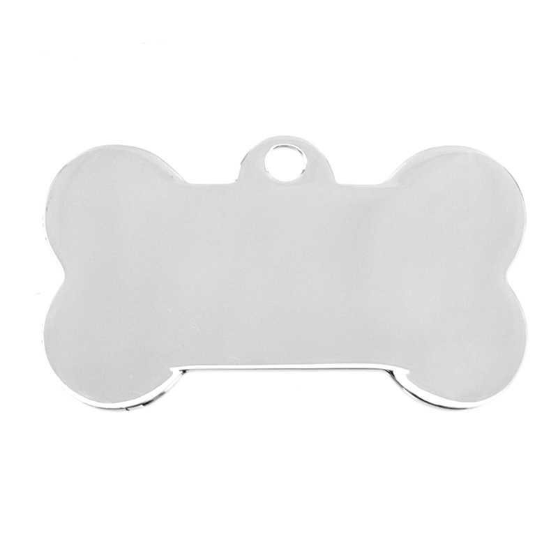 100 Stainless Steel Blank Dog ID Tag Personalized Bone Pet Tags Name Tag Plate Collar Decoration