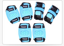 COUGAR NEW Kids 6pcs/set Skating Protective Gear Sets Elbow pads Bicycle Skateboard Ice Skating Roller Knee Protector S M L