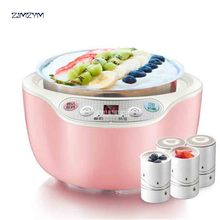 SNJ-B10N2 машина для йогурта домашняя полностью автоматическая машина для Натто мини-подстаканник из нержавеющей стали йогурт 220 в 1л Емкость