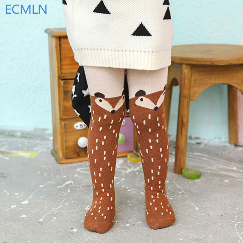 2016 New Autumn Cartoon Fox Baby Girl Tights Cotton Cute Children Stocking Baby Pantyhose For Kid 0-5Years best selling