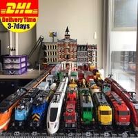 DHL LEPIN Train Emerald Night Train Motor02008 02009 02010 02039 21005 21006 21007 21011 21029 Buillding