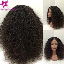 Stock!!! Middle Side U Part Virgin Brazilian Curly Wig 150 Density Unprocessed Glueless U Part Human Hair Wigs for black women