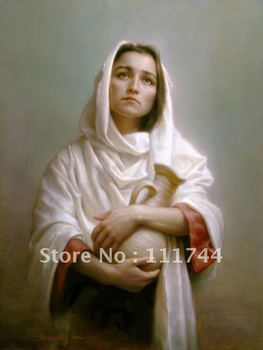 renaissance Portrait painting Canvas art Seeking Shiloah By Joseph Brickey painting High quality 100%handmade