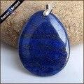 Men Jewelry Pendant Slide Natural Cabochon Blue Lapis Lazuli Stone Beads Bijoux Necklaces & Pendants Accessories Gift Box HS371