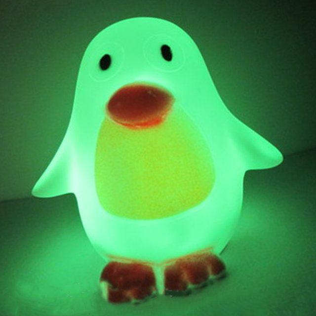 Delightful LED Colour Changing Light Penguin Lamp Toy Kid Adult Gifts Low Energy Home  Night Light Baby