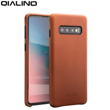 QIALINO Genuine Leather Bag Phone Case for Samsung Galaxy S10+ Plus Fashion Luxury Back Cover S10 6.1/6.5 inches