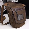 Men Canvas Ride Drop Leg Bag Motorcycle Riding Belt Hip Military Assault Cell Phone Fanny Waist Pack Messenger Shoulder Bags New