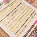 1 Sheet Chic Gold Lace 3D Nail Sticker 6.5*5.5cm Elegant Manicure Nail Art Sticker Pattern 689-692