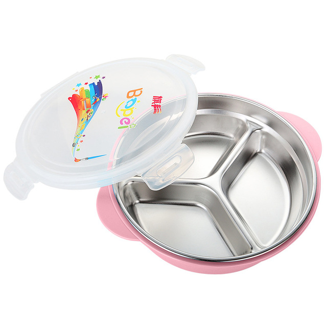 Creative Portable Kids Divided Lunch Bento Box Hot Water Heating Food  Container Bowls Outdoor Tableware Kitchen