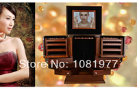 Europe Luxury Wood Jewelry box princess fashion super large jewelry box accessories storage box wedding Girlfriend gift