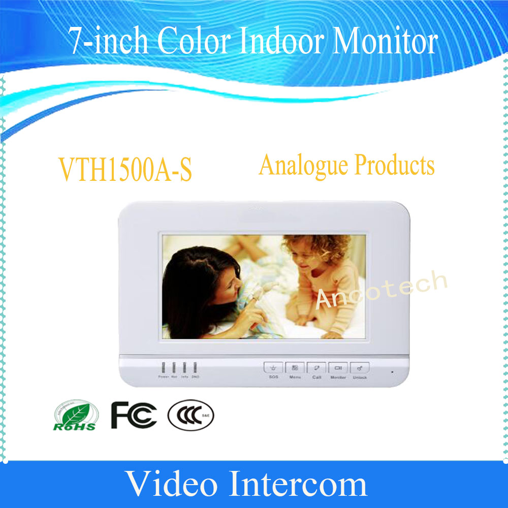 Free Shipping DAHUA 7inches Color Indoor Monitor Original English Version without Logo VTH1500A-S signed kobe bryant autographed original photo 7 inches free shipping 08201709