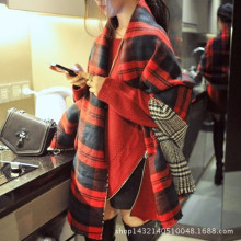 2015 Fashion Women Chic Large Red Tartan Scarf Wrap Shawl Stole Two Side Plaid Checked