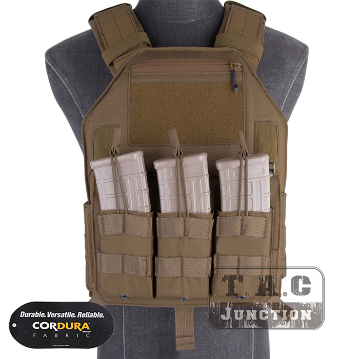 Emerson Tactical LBX-4020 A2 Armatus II Slick Plate Carrier EmersonGear Adjustable Vest Lightweight Body Armor w/ M4 Mag Pouch emerson tactical drop pouch emerosngear fanny pack tool organizer bag front pocket for body armor plate carrier vest